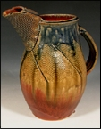 Stoneware Faceted Pitcher with Ash Glaze
